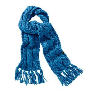 SALEWA Chunky Strickschal blau