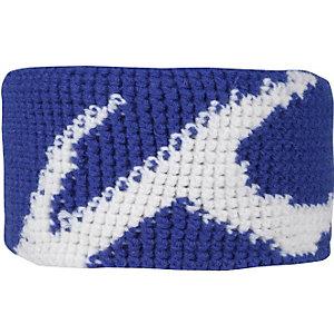 KJUS Burl Stirnband blau/weiß