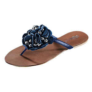 Buffalo Flat Zehensandalen Damen blau
