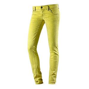 Freesoul Silver Skinny Fit Jeans Damen neongelb