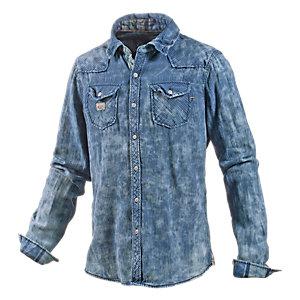 Khujo Langarmhemd Herren blau