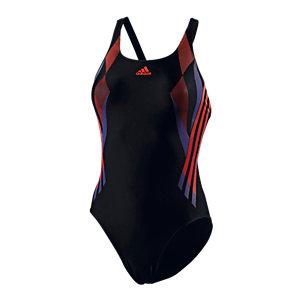 adidas Schwimmanzug Damen schwarz/rot
