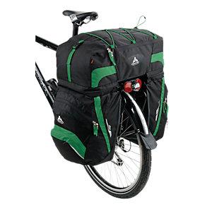 VAUDE Karakorum Fahrradtasche schwarz/grün