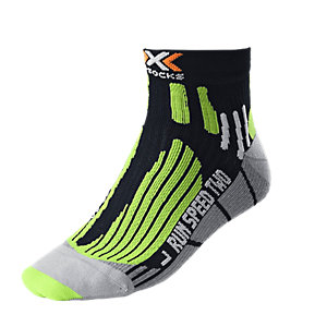 X-SOCKS Speed Two Laufsocken Herren schwarz/limette