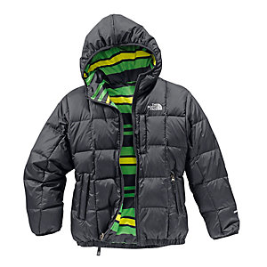 The North Face Reversible Moondoggy Wendejacke Jungen schwarz/grün