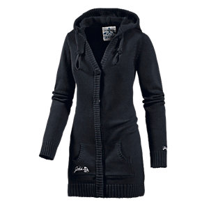 gotcha summer denieze strickjacke damen schwarz im online shop von sportscheck kaufen. Black Bedroom Furniture Sets. Home Design Ideas