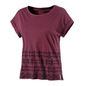 Burton Joplin Printshirt Damen bordeaux