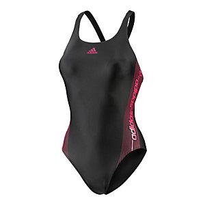 adidas Schwimmanzug Damen schwarz/brombeer