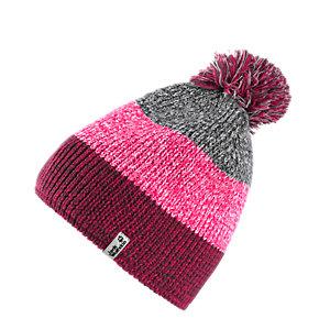 Jack Wolfskin Colorfloat Bommelmütze pink/grau