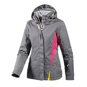 Ziener Tilac Skijacke Damen graumelange/pink