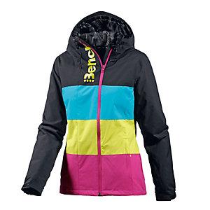 Bench Snowboardjacke Damen schwarz/pink/gelb