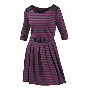 Neighborhood Jerseykleid Damen bordeaux/schwarz