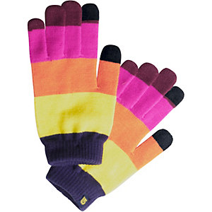 Burton Touch N Go Fingerhandschuhe pink/orange/gelb