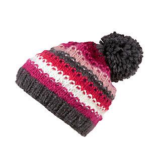 OCK Striped Bommelmütze pink/grau