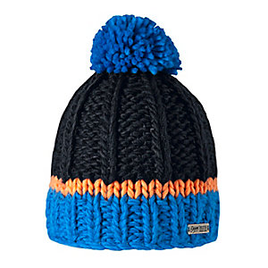 Barts Olly Bommelmütze Kinder blau/schwarz/orange