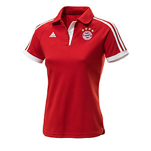 adidas FC Bayern Poloshirt Damen rot/weiß