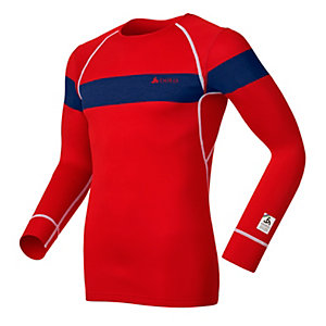 Odlo Warm Olympics Funktionsshirt Herren rot/blau