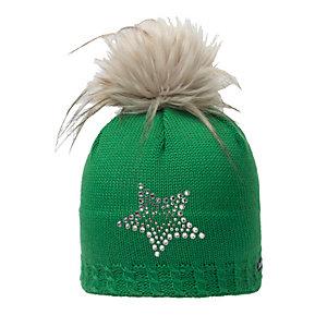 Eisbär Selina Lux Crystal Bommelmütze grün