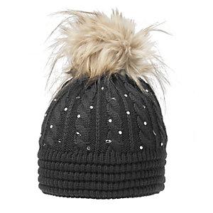 Eisbär Nana Lux Crystal Bommelmütze Damen schwarz