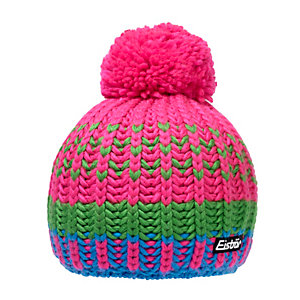 Eisbär Lesly Pompon Bommelmütze pink/grün/blau
