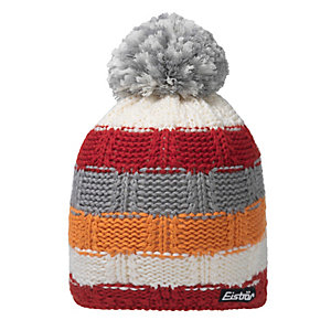 Eisbär Hedi Bommelmütze weiß/rot/orange