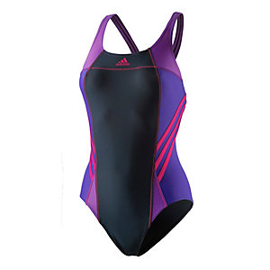 adidas Schwimmanzug Damen anthrazit/pink/lila