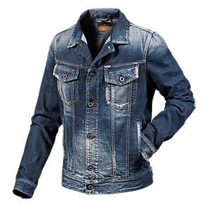 replay jeansjacke mit aufhellungen 2 brusttaschen und 2 paspel. Black Bedroom Furniture Sets. Home Design Ideas