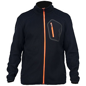Spyder Paramount Strickjacke Herren schwarz/orange