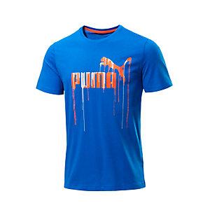 PUMA Paint Drip T-Shirt Herren blau