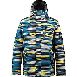 Burton Poacher Snowboardjacke Herren gelb/blau