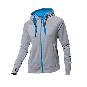 adidas sweatjacke damen graumelange blau im online shop. Black Bedroom Furniture Sets. Home Design Ideas