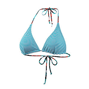 Maui Wowie Triangel-OT Bikini Oberteil Damen türkis/weiß