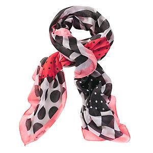 Codello Tuch Damen schwarz/weiß/rot