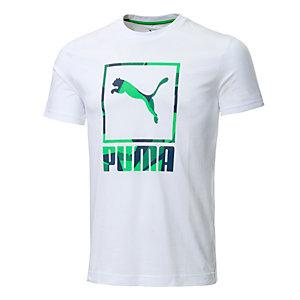 PUMA Casual Logo Printshirt Herren weiß