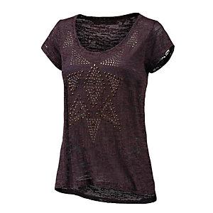 BLEND T-Shirt Damen lila/schwarz