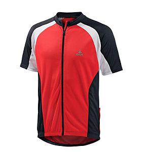 OCK Fahrradtrikot Herren rot/weiß/schwarz