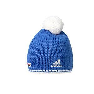 adidas DSV Crochet 2 Bommelmütze blau/weiß