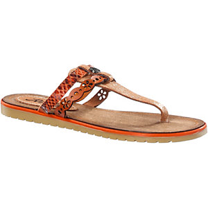 REPLAY Zehensandalen Damen orange/goldfarben