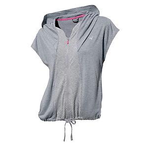 puma kapuzenshirt damen graumelange im online shop von. Black Bedroom Furniture Sets. Home Design Ideas