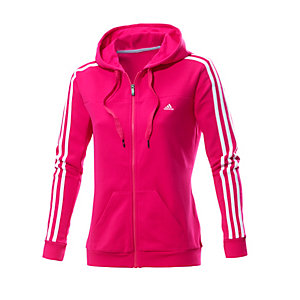adidas sweatjacke damen pink wei im online shop von. Black Bedroom Furniture Sets. Home Design Ideas