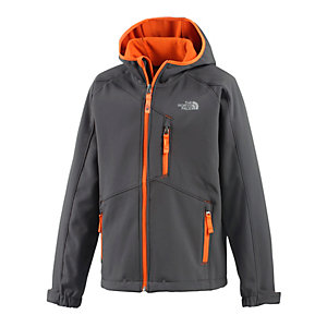 The North Face Softshelljacke Jungen anthrazit/orange
