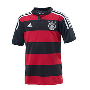 adidas DFB Fußball Auswärtstrikot WM 2014 Kinder schwarz/rot