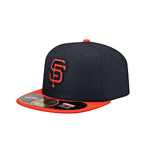New Era SF Giants MLB BP 5950 Cap schwarz/rot