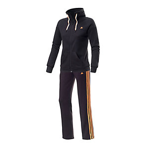 adidas Trainingsanzug Damen schwarz/orange