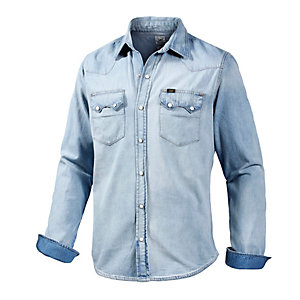 Lee Langarmhemd Herren light denim