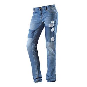 One Green Elephant KOSAI Skinny Fit Jeans Damen destroyed denim