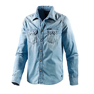 Pepe Jeans Langarmhemd Herren light denim