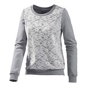 alprausch sweatshirt damen graumelange wei im online shop von. Black Bedroom Furniture Sets. Home Design Ideas