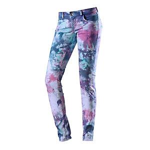 Mogul Skinny Fit Jeans Damen blau/bunt