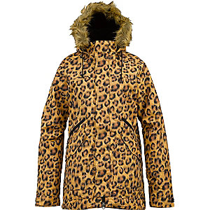 Burton Wanderlust Snowboardjacke Damen gelb/leopard